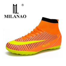MILANAO Men s font b Football b font Shoes Newest Long Spikes Training font b Football