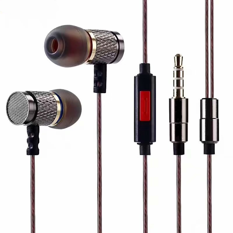 Professionale In-Ear Earphone Metal Heavy Bass Qualità del suono Musica in EarEarphones Marchio di fascia alta fone de ouvido