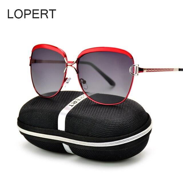 LOPERT Mode Polarisées lunettes de Soleil Femmes De Luxe Marque Lunettes  Rétro Été HD Polaroid Lentille 10a2131f0b89