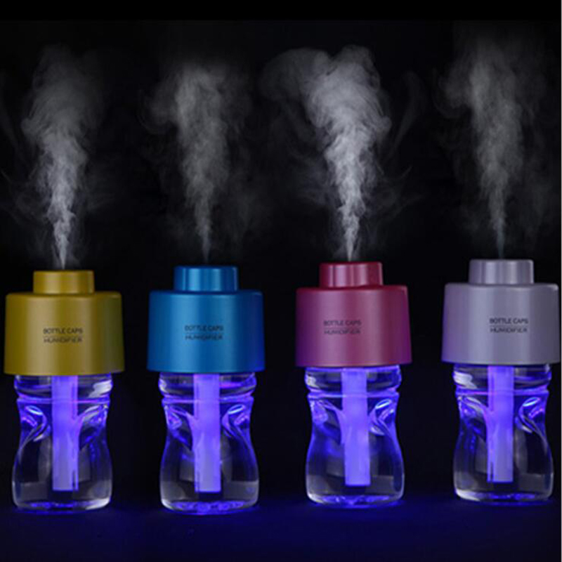 GXZ Upgraded USB Bottle Caps Humidifier Ultrasonic Car Air Humidifier Mist Maker Mini Home Desktop Air Purifier 280ml 5v led lighting usb mini air humidifier 250ml bottle included air diffuser purifier atomizer for desktop car
