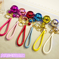 Gift bell plush car key pendant bag hangings keychain key chain ring girls