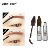 Music Flower All Day Tattoo Tinted Eyebrow Long Lasting Eye Makeup Natural Eyebrow Cream Quick-drying Smudge-proof Dropshipping консилер тон 10 natural beige stay all day 16h long lasting essence