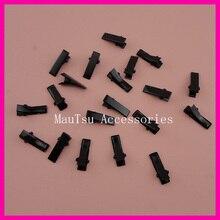 """100 шт черные 2,0 см 3/"""" Мини прямоугольные простые металлические зажимы под аллигатора с маленькими зубчиками для украшения волос DIY, заколки для волос"""