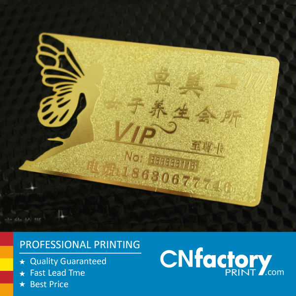 Golden metal business card butterfly laser cut card in business golden metal business card butterfly laser cut card reheart Choice Image
