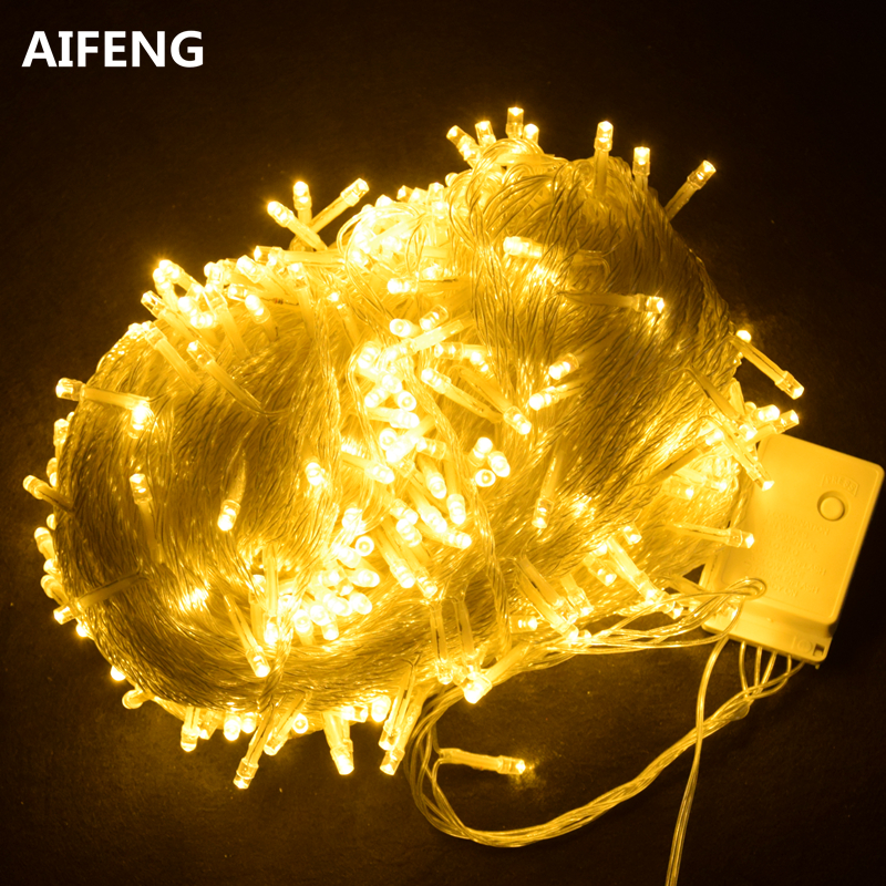 AIFENG outdoor string lights for christmas tree 100m 50m 30m 20m 10m 5m 220v 110v fairy light led light string christmas lights