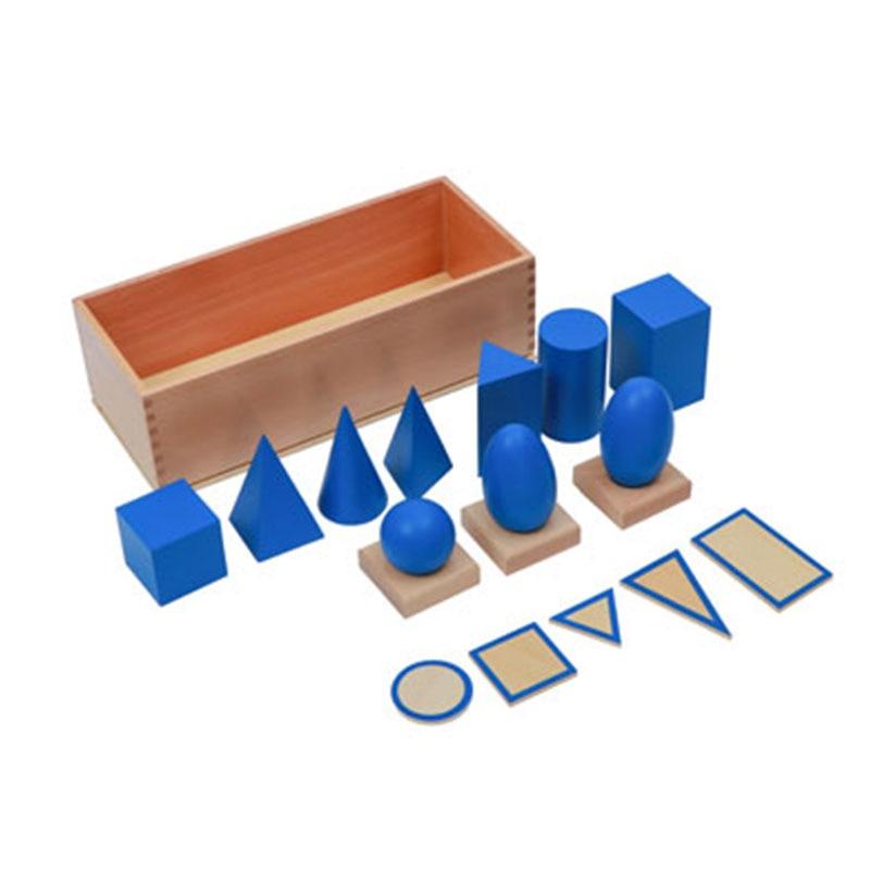 Matériaux en bois Montessori solides géométriques avec Bases jouets éducatifs préscolaires d'apprentissage pour enfants cadeau d'anniversaire E2264Z