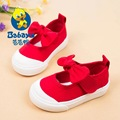 2016 casual brand solid bowtie shallow slip on soft toddle sneaker baby loafer infantile casual canvas shoes girls first walkers