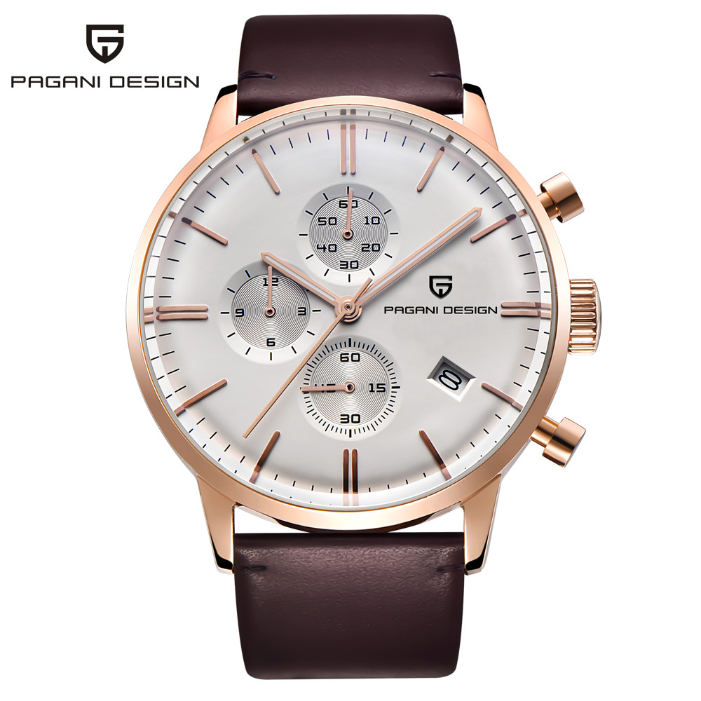 PAGANI DESIGN Mens Watches Fashion Leather Quartz Watch Men Sport Male Clock Chronograph Military Wristwatch Relogio Masculino pagani design business casual leather men s watches fashion sport utility chronograph military watches relogio masculino 2016