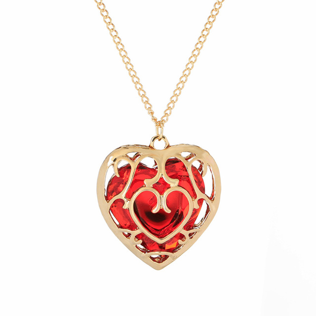 the heart classic item short zelda jewel locket pendant of accessory game legend japan necklace accessry
