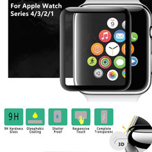 3D Full Cover Tempered Glass For Apple Watch 40mm 44mm Series 4 Screen Protector For Apple Watch 38mm 42mm Series 1/2/3 ashei for apple watch screen protector series 3 42mm watch accessories tempered glass screen protector cover for iwatch 2 1 38mm