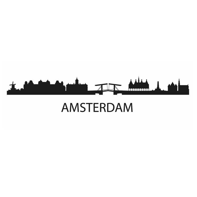 DCTAL AMSTERDAM City Decal Landmark Skyline Wall Stickers