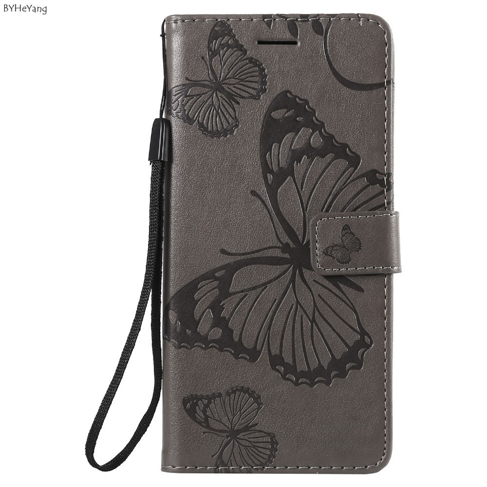 A6S Butterfly Case on sFor Fundas Samsung Galaxy A6s Case Leather Cover 3D Embossing coque wallet fundas for Samsung A6s bags