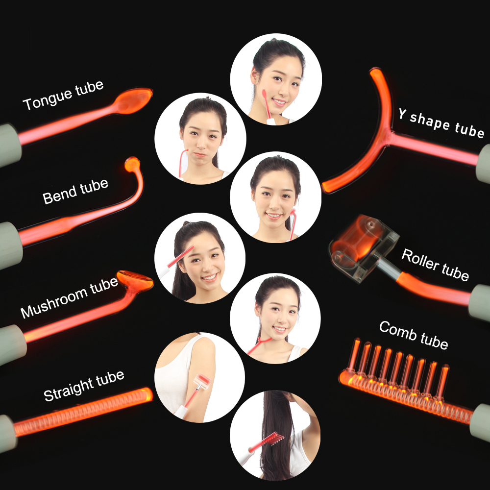 KLASVSA-Dardonval-High-Frequency-Therapy-7-Wands-Tube-Massager-Facial-Hair-Sticker-Device-Chromotherapy-Skin-Care