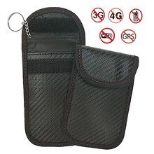 LOSFP saco blindagem Sinal de Saco Chave Do Carro chave Do Carro fob saco Blindagem sinal de Bloqueio Anti-roubo Bolsa Carteira de Privacidade proteção