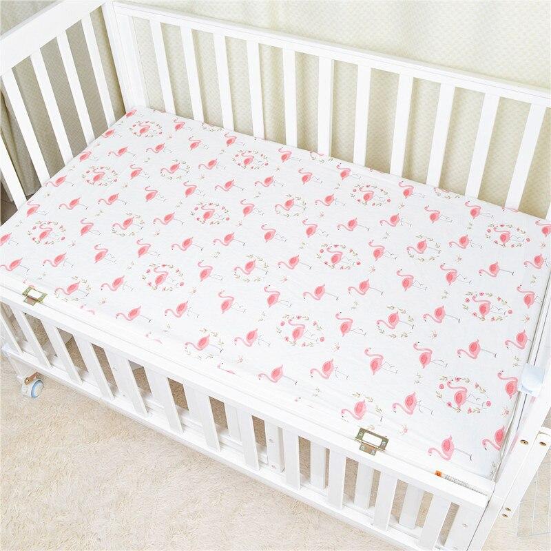 120*65 см детский матрас облака Фламинго Хлопок Дышащие простыни детские постельные принадлежности Детская кровать Чехол Новорожденный Фотография реквизит - Цвет: Flamingo