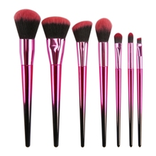 NEW 7Pcs Gradient Purple Red Makeup Brushes Set Powder Foundation Blending Eye Shadow Blush Cosmetics Beauty Make Up Brush Tool цена