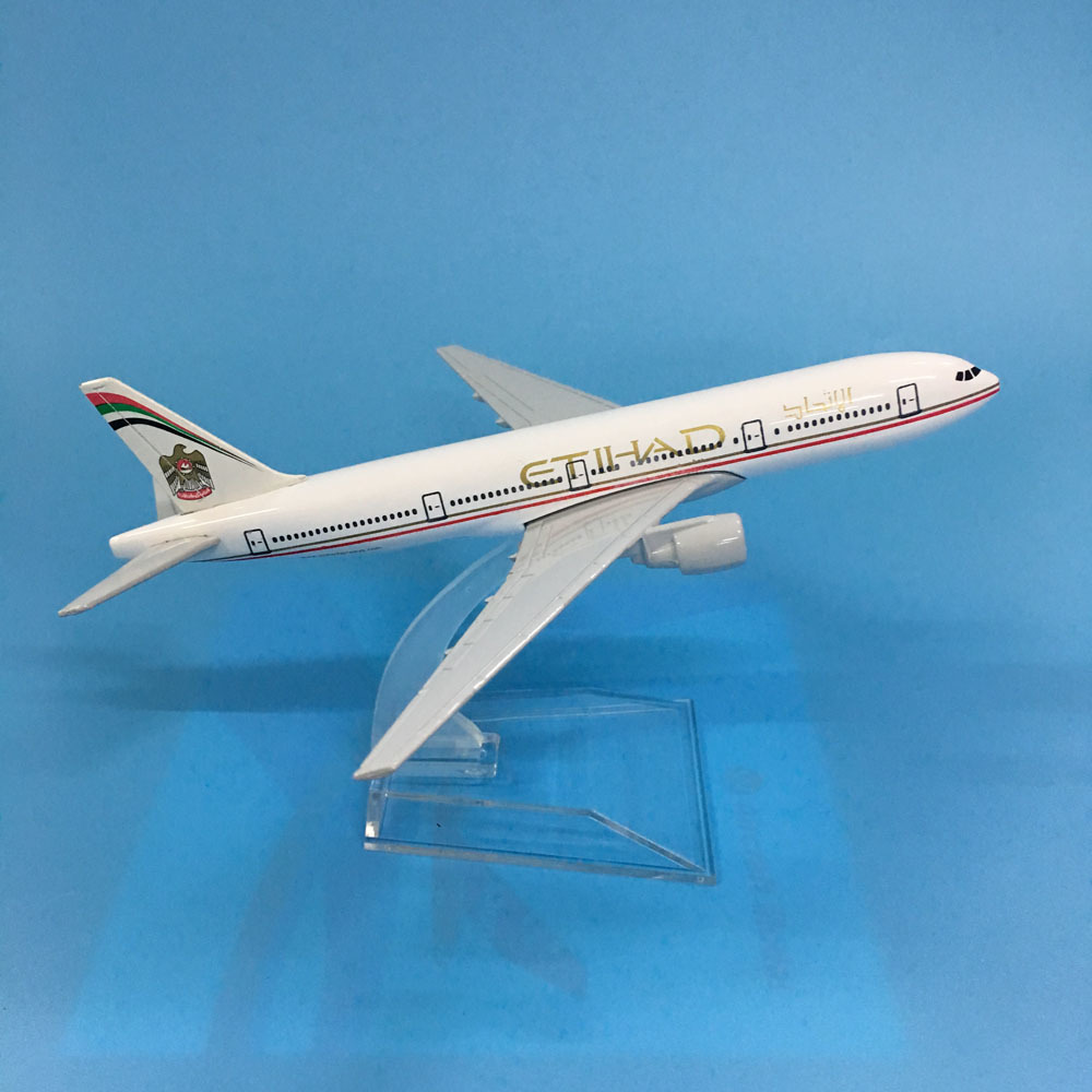 JASON TUTU Aircraft Model Diecast Metal 1:400 16cm Plane Model Airplane Model Etihad Boeing B777 Airplanes Model Plane Toy Gift