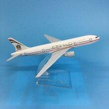 цена на JASON TUTU Aircraft Model Diecast Metal 1:400 16cm Plane Model Airplane Model Etihad Boeing B777 Airplanes Model Plane Toy Gift
