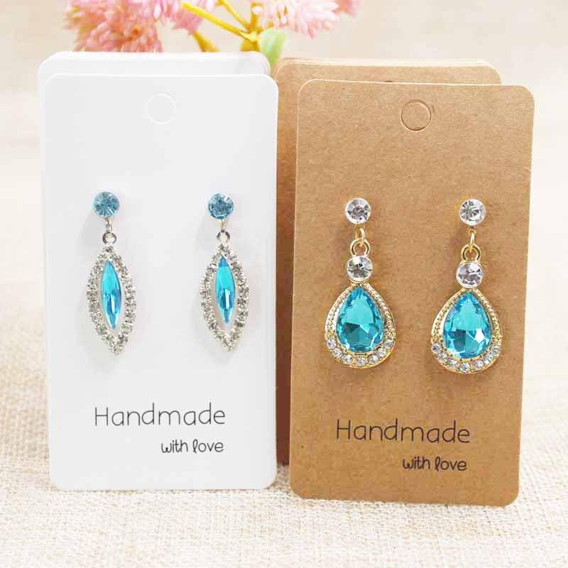 200pcs Mulit Size DIY Handmade Jewelry Earring Card Cute Stud/drop Earring Package & Display Card Custom Logo Cost Extra