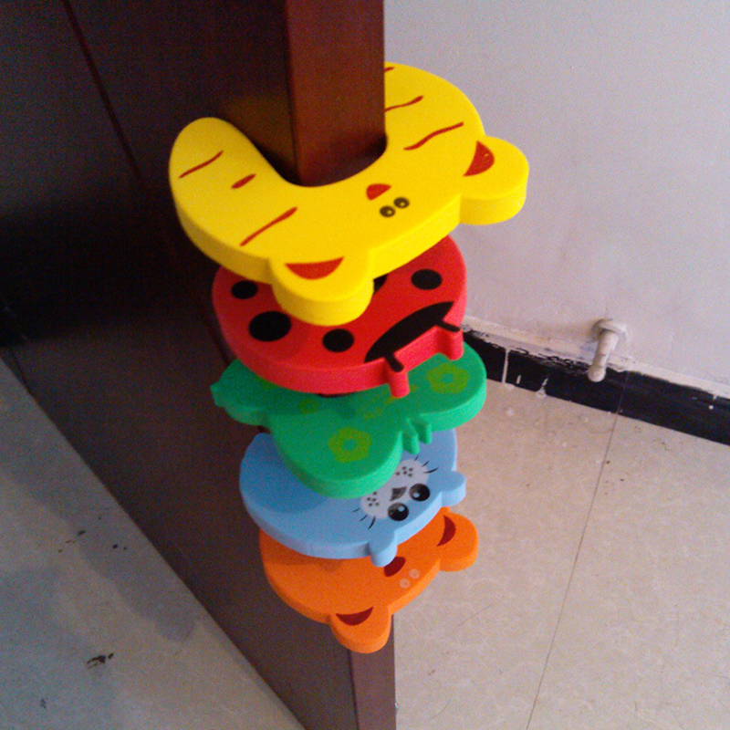 10pcs/lot Baby Safety Door Stopper Holder Cartoon Jammers Stop Gate Edge Corner Guards Children Care Finger Protector