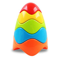 Free Shipping 2015 New Arrival Baby Educational Toys Baby Wisdom Egg Rainbow Towers Stacked Layers Sets