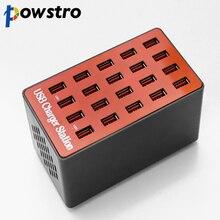 شاحن USB 20 منفذ USB Hub quicky charge 3.0 محطة محول الطاقة العالمي ل iPhone7 8 iPhone 8 Plus X iPad سامسونج هواوي