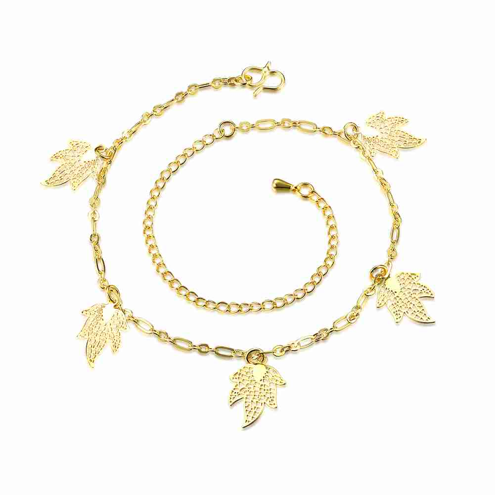 Free Shipping online shopping india silver plated anklet leaf leg font b jewelry b font margarida