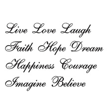 Deoxygene Love Live Hope Quote Floor Stair Wall Art Decal