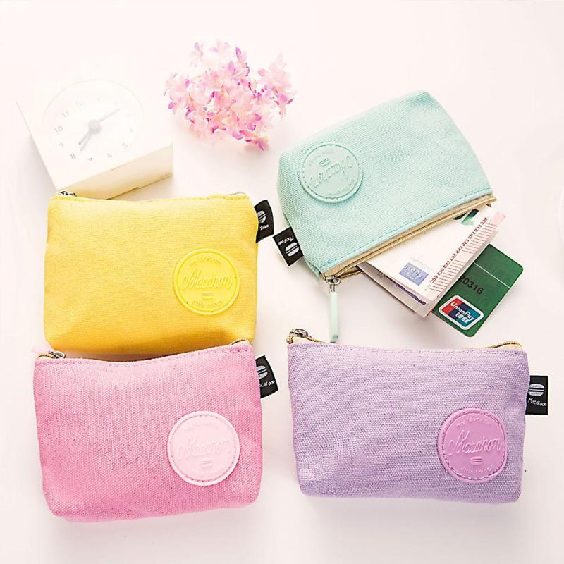 School lunch money Little girls/' wallet Kids wallet Keychain wallet Summer coin purse with ice cream cones cotton Vegan mini wallet
