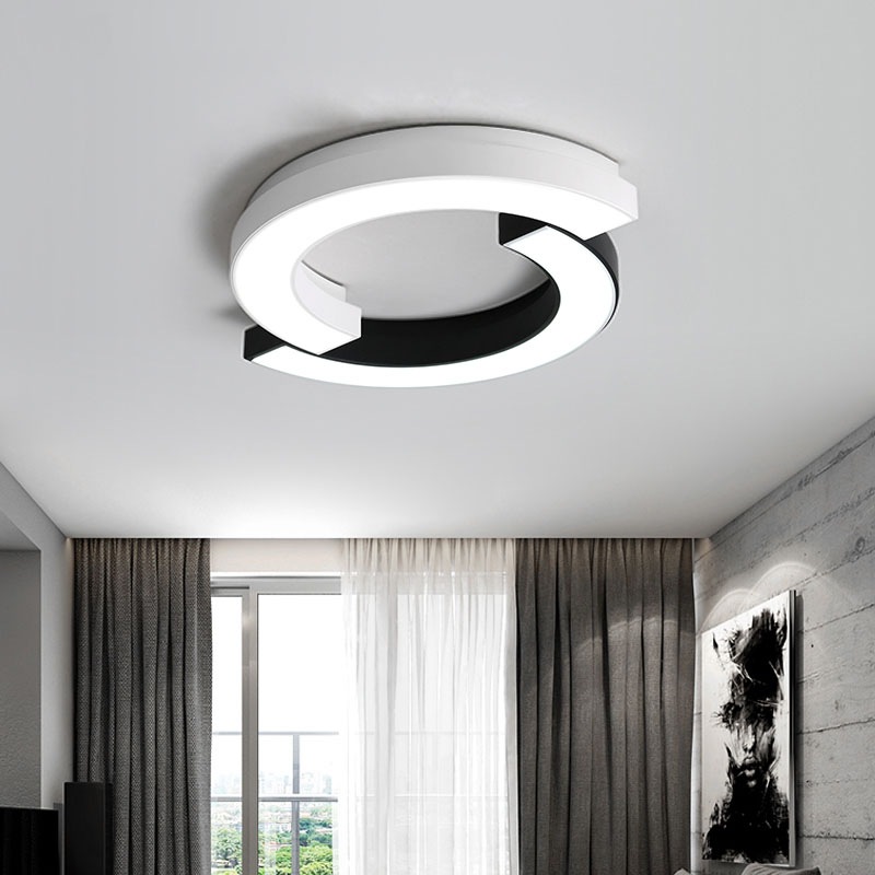 Arc LED Ceiling Lighting Modern LED Ceiling Lights For Living Room Light Fixture Home Decorative Lampshade lamparas de techo