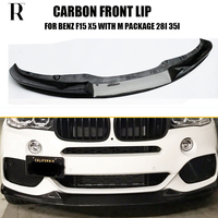 F15 MP Style Full Carbon Fiber Front Bumper Lip Chin Spoiler for BMW F15 X5 28i 35i with M Package 2014 2018 ( Not Fit X5M )