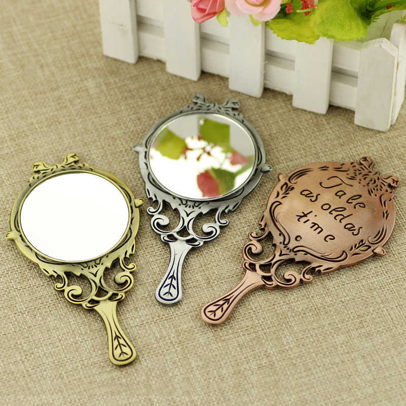 2017 Beauty and the Beast Mirror Necklace Tale As Old As Time Hand Carved letter Necklace True mirror Simple and Portable