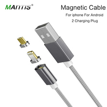 Mantis Micro font b USB b font magnetic cable charger nylon rope braided cable for iPhone