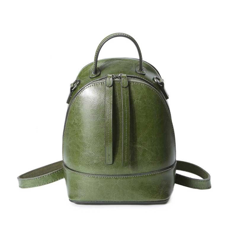 Waterproof Backpack School-Bag Travel Multifunctional SAFEBET 100%Genuine-Leather Women