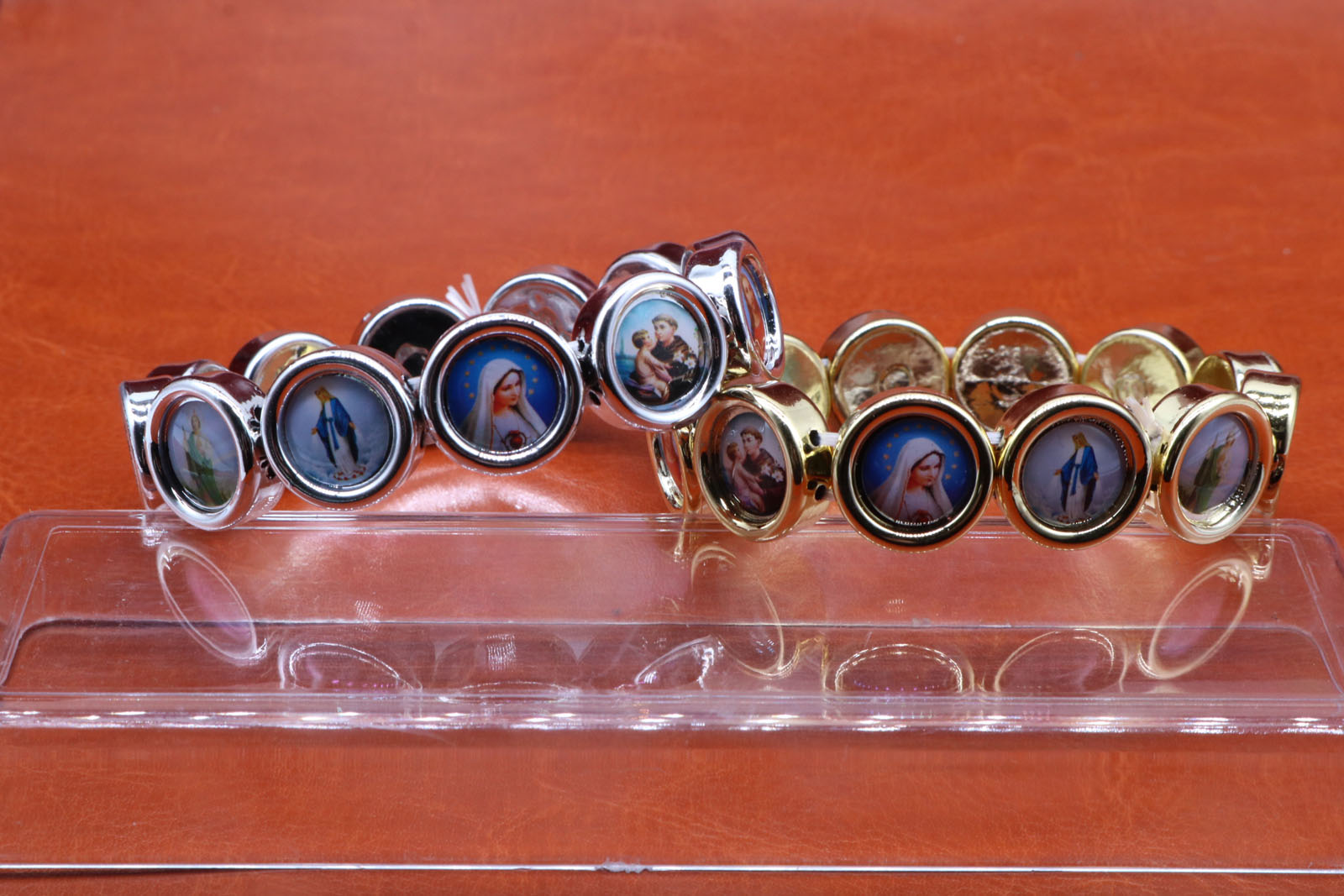 Catholic Round Plastic High Quality Jesus Christ Beaded Bracelet Rose Bracelet Men's and Women's Fashion Bracelets