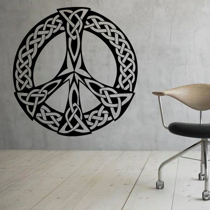 Art Decor Peace Sign Wall Stickers Pattern Removable Wall Decor Vinyl Decal  Sticker For Living Room Design Waterproof M484