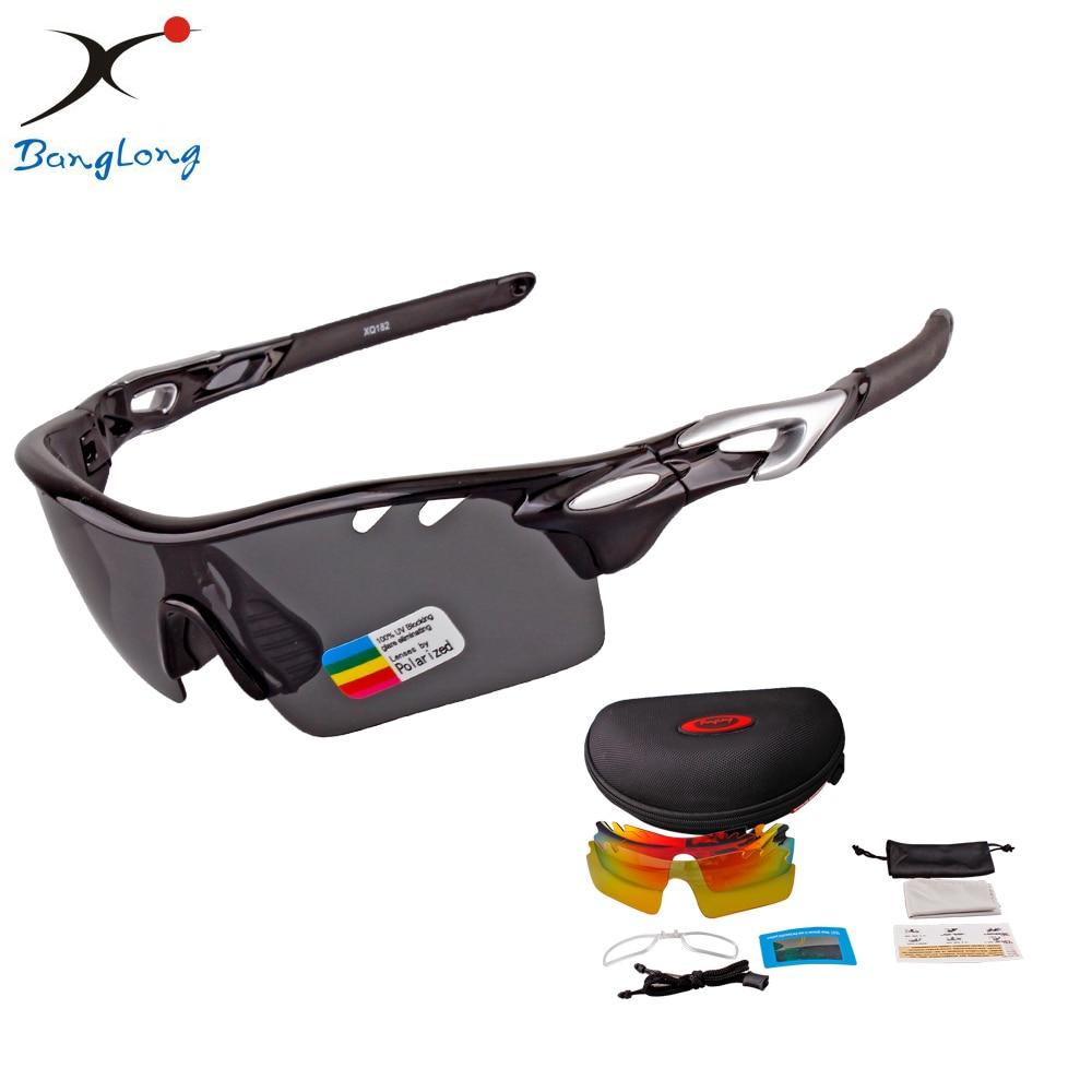 יוניסקס להחלפה מקצועית חיצונית ספורט משקפי שמש רכיבה על אופניים סט אחד של 3 עדשות עדשות מקוטבות גם חליפה למשתמש קוצר ראייה