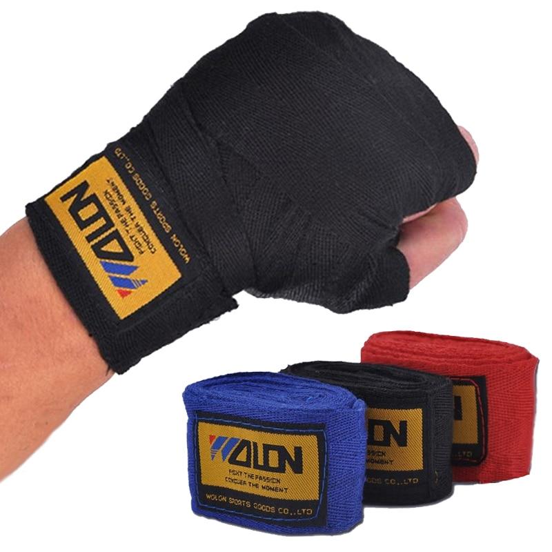 2pcs-roll-Width-5cm-Length-2-5M-Cotton-Boxing-Sports-Wrist-Strap-Bandage-Sanda-Muay-Thai