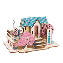 DIY Model toys 3D Wooden Puzzle Spring blossoms Wooden Kits Model Educational Puzzle Game Assembling Toys Gift for Kids P13 цены онлайн