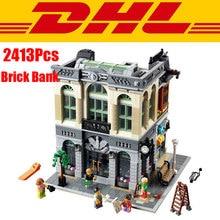 DHL 2016 LEPIN 15001 2413Pcs Creator Brick Bank Model Building Kits Minifigure Blocks Bricks Toy Compatible With 10251