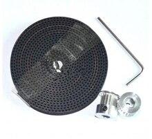 2 Шт. GT2 16 зубов, диаметр 5 мм времени Шкив И 2 м Gt2-6мм Открыть GT2 Пояс для 3d-принтер оптовая ЛУЧШЕЕ качество