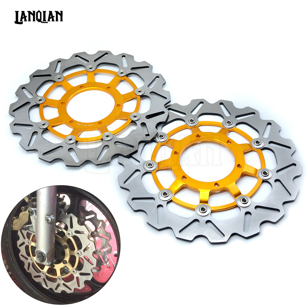 Motorcycle Front Floating Brake Disc Rotor For Honda CBR600RR 03-17 CBR1000RR 04-05 CB1300 03-09 CBR 600RR 1000RR 600 1000 RR one pair high quality motorcycle cbr1000rr front floating brake disc rotor for honda cbr1000rr cbr 1000rr cbr 1000 rr 2004 2005