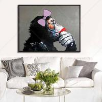 Animal King Thinking Monkey Wall Pictures Oil Painting Hand Painted Canvas Top Idea Decor Wall Art