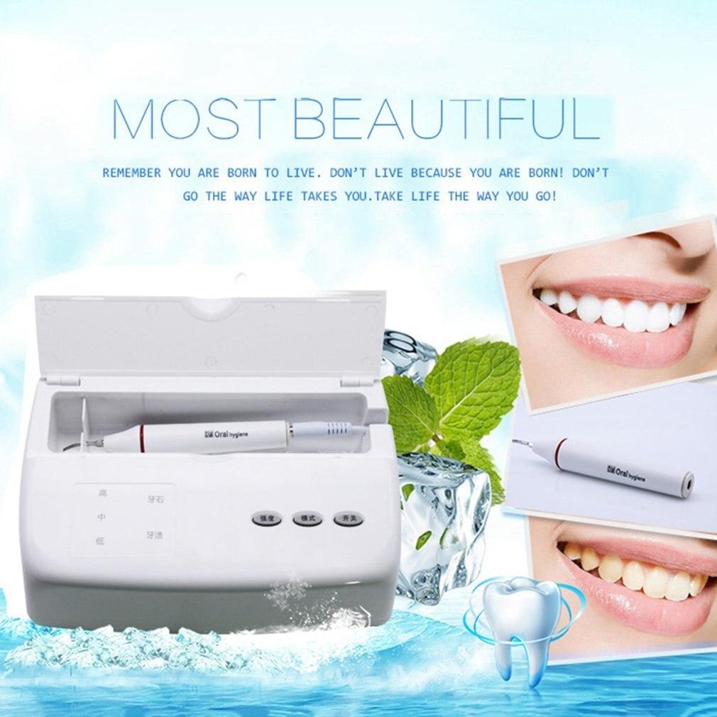 Professional Waterfree Ultrasonic Teeth Cleaning Machine Oral Irrigator Intelligent Dental Equipment Smoke Stains Remover стоимость