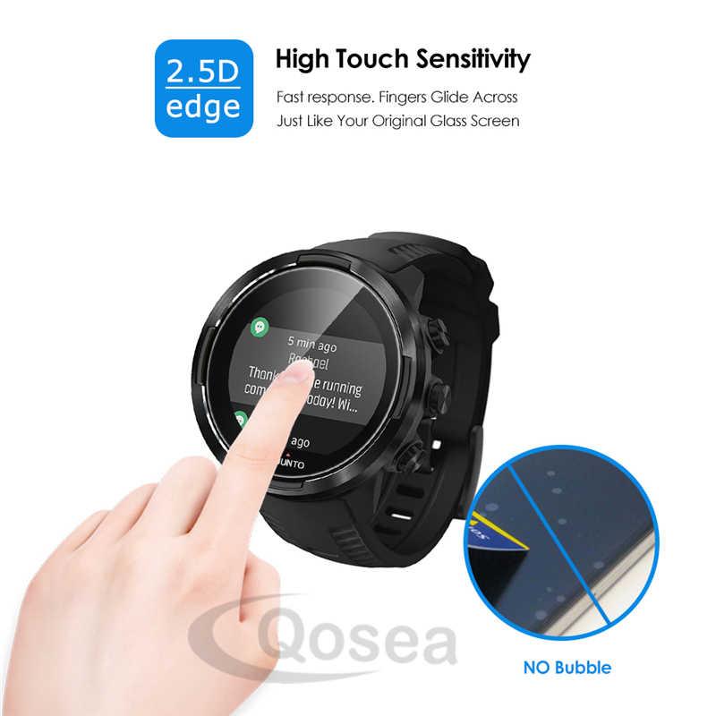 4 Pcs מזג זכוכית מסך מגן עבור SUUNTO 9 Smartwatch 9H Ultra ברור מגן סרט על Suunto D5 שעון מסך מגן