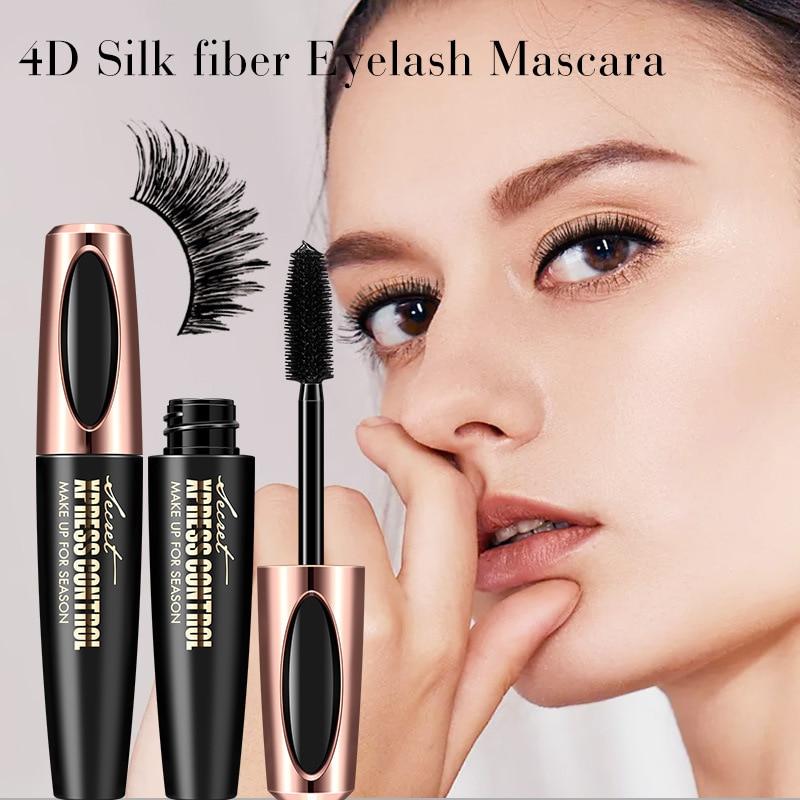 eaa027aff2b New 4D Silk Fiber Lash Mascara Waterproof Rimel 3d Mascara For Eyelash  Extension Black Thick Lengthening Eye Lashes Cosmetics-in Mascara from  Beauty ...