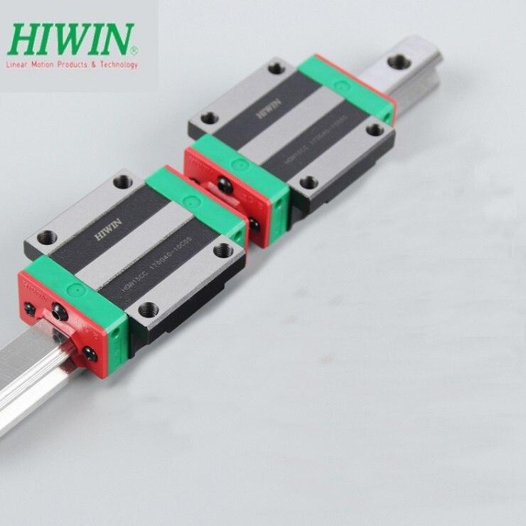 1 pièces 100% d'origine Hiwin rail HGR25-L 1100mm + 2 pièces 700mm + 2 pièces HGW25CC bloc pour CNC