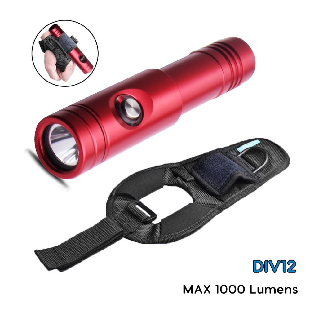 Brinyte Diving Flashlight DIV12S Rechargeable Diving Light Cree XM-L2 U4 LED Portable Waterproof Underwater Diving Torch Lamp 5000lm portable flashlight uniquefire uf 1400 5 mode 4 cree xm l2 led torch lamp for 4 18650 li ion rechargeable battery