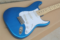 Chinese Electric Guitars ST 2017 New Arrival Music Instruments Surf Blue Maple Fingerboard Free Shipping