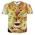 Harajuku classic cartoon dragon ball super saiyan armour 3d t shirt men/women summer  tshirt tops casual tee shirts